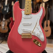 Salmon Pink Classic S electric guitar by Gordon Smith Guitars - body details