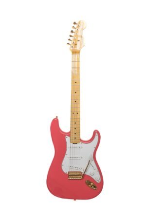 Salmon Pink Classic S electric guitar by Gordon Smith Guitars - cutout