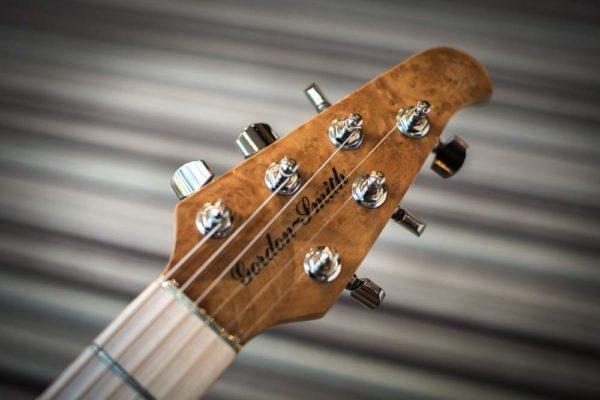 Guardian electric guitar headstock photo - Gordon Smith Guitars