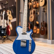 Blue T-Graf electric guitar by Gordon Smith Guitars
